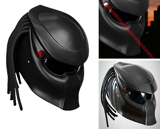 O capacete do Predator é fabricado pela empresa russa NLO Moto. Tem  diversas opções de personalização que vão desde canetas de laser que ao se  acenderem ... 6e4515dae34